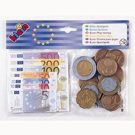 Euro-Geld mit Kopfkarte, im Beutel