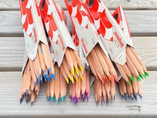Buntstifte - Dreieckig 12 Stifte einer Farbe