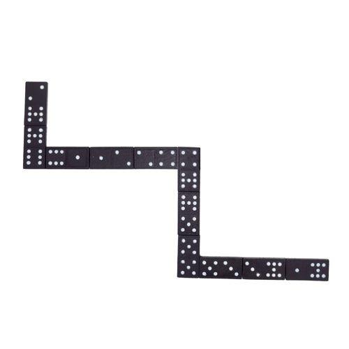 Domino, schwarze Steine