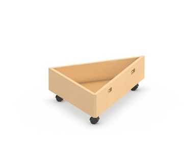 Rollkasten für Spielpodest Dreieck klein