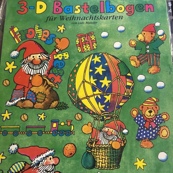3-D Bastelbogen für Weihnachten