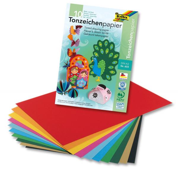 Tonpapierblock A3 10 Blatt