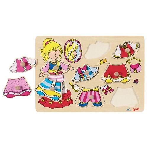 "Steckpuzzle ""Anziehpuppe Prinzessin"""