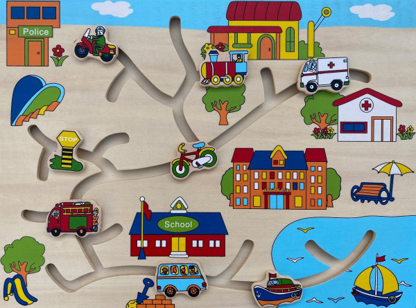 Puzzle, Schiebepuzzle Fahrzeuge,