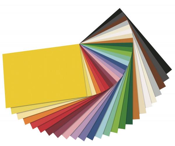 Tonpapier 130 g, 50 x 70 cm - 10 Bogen einer Farbe