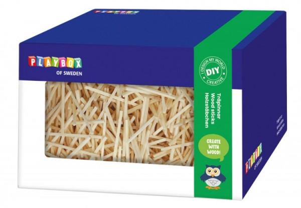Holzstäbchen in Box natur