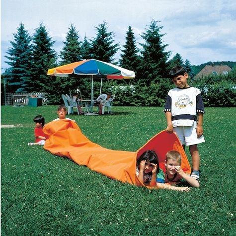 Kriechtunnel, orange