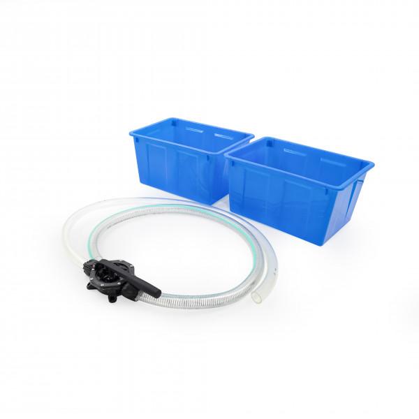 Set Pumpe mit Schlauch + 2 Kunststoffboxen