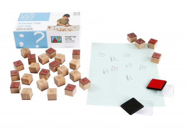 """Lernspiel """"Stamp the letter"""" - Buchstaben Stempel Spiel"""