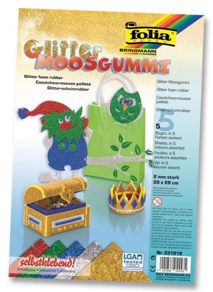 Glitter-Moosgummi II