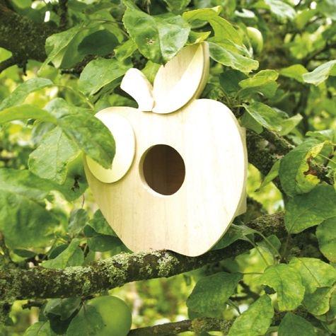 Vogelhaus Apfel, Holz