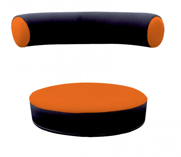 Sanus® Ersatzbezug Stoff orange/schwarz