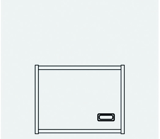 Aufsatzschrank Tür links
