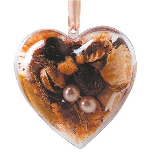 Herz aus Acrylglas, 2-teilig, Ø 10 cm
