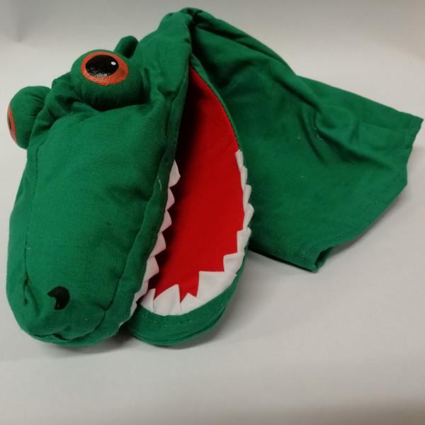 Hanspielpuppe Krokodil