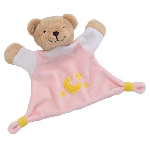 Kuscheltuch Bär, rosa
