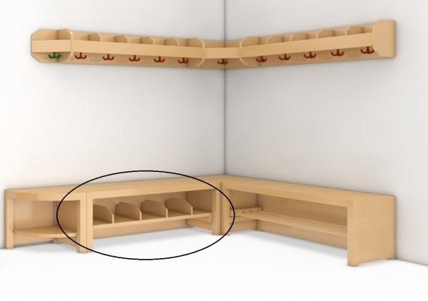 Garderobenbank, Sitzhöhe 35 cm