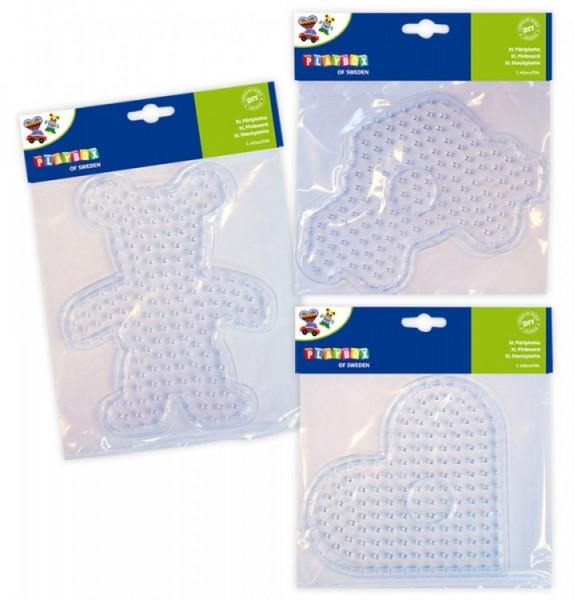 Steckplatten XL für Bügelperlen Set 3 Stück
