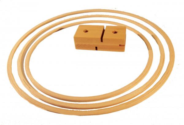 Stab- und Reifenhalter, Holz