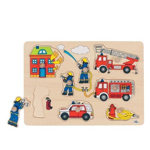 Steckpuzzle Feuerwehr, Holz, 30 x 21 cm