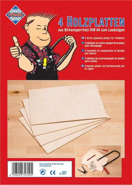 4 Holzplatten DIN A4