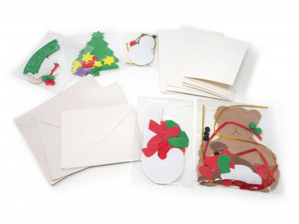weihnachtskarten bastelset basteln weihnachten. Black Bedroom Furniture Sets. Home Design Ideas