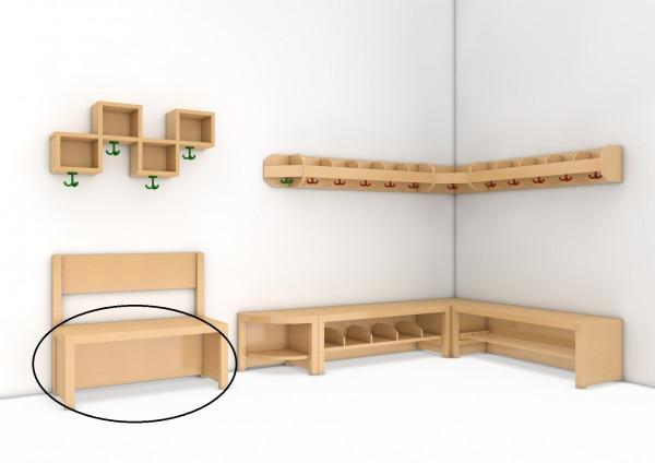 Garderobenbank, Sitzhöhe 43 cm