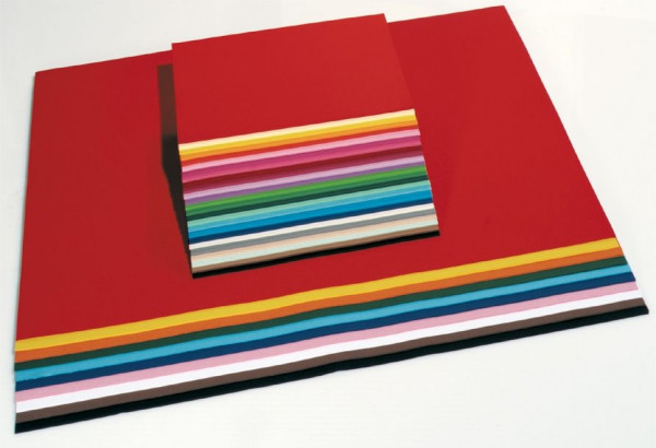 Tonpapier 130 g, 35x50 cm - 100 Bogen in 10 Farben