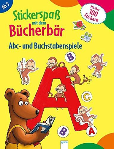 Stickerspaß mit dem Bücherbär - Buchstabenspiele