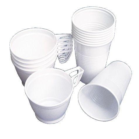 Plastikbecher 0,2 l weiß