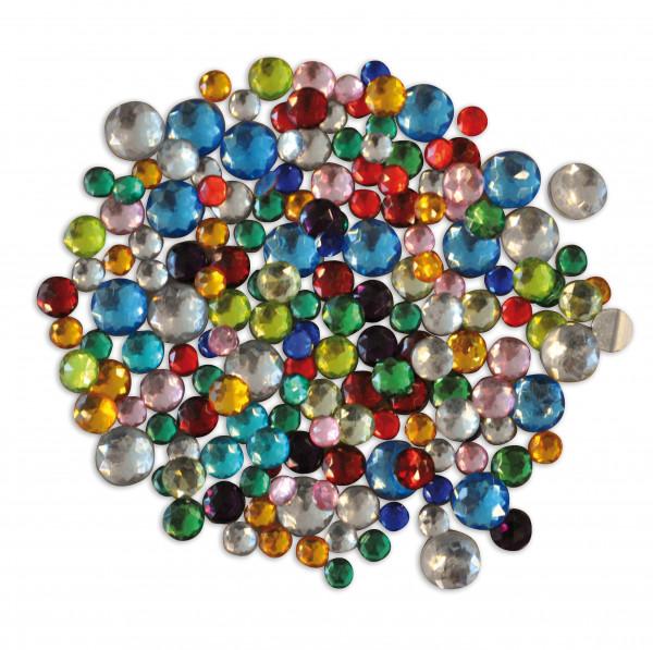 Kristallsteine klein rund, 1000 Stück