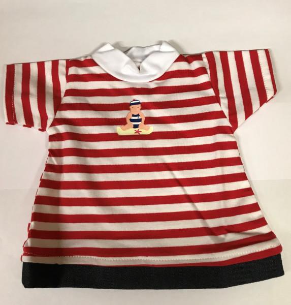 Shirt mit Hose rot-weiß gestreift