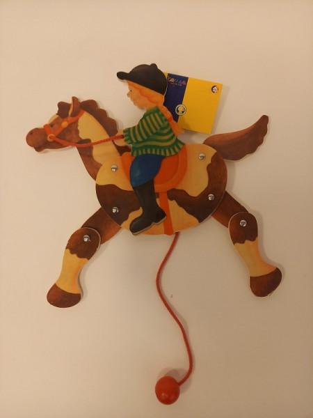 Hampelfigur Mädchen auf Pferd