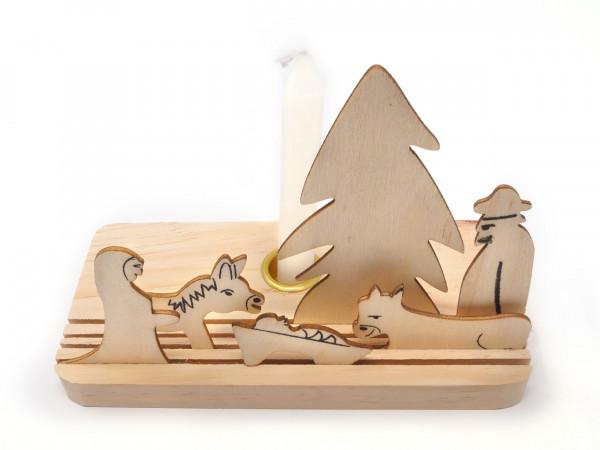 Krippe aus Holz 7-teilig