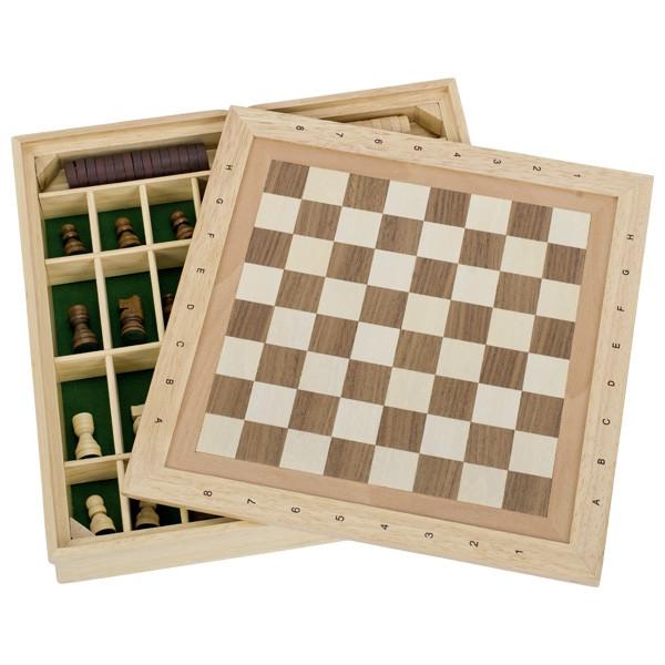 Schach, Dame, Mühle Spielbox