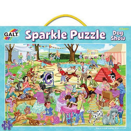 "Glitzer Puzzle ""Hunde Show"""
