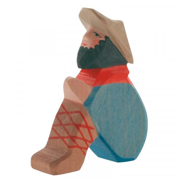Ostheimer Krippenfigur Hirte sitzend