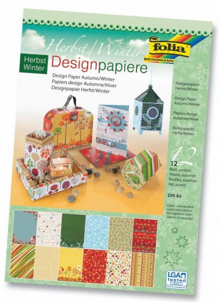 "Designpapierblock ""Herbst/Winter"", 150 g/m²"