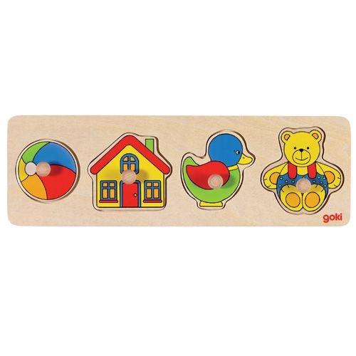 Steckpuzzle Ball-Haus-Ente-Bär