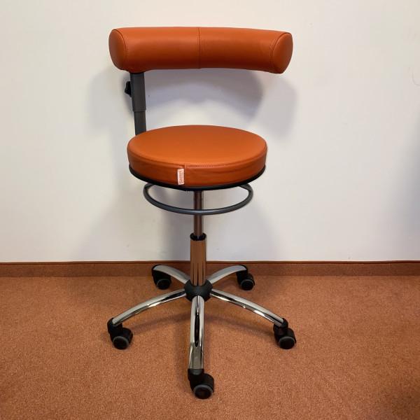 Sanus 2. Wahl Gesundheitsstuhl Leder orange