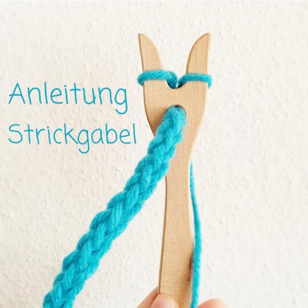 Strickgabel, mit Anleitung