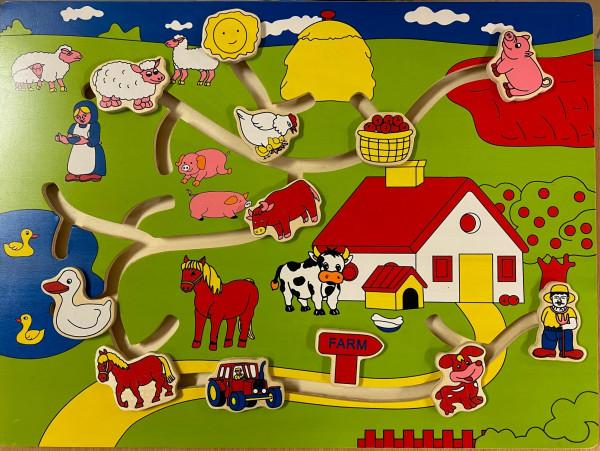 Puzzle, Schiebepuzzle Bauernhof