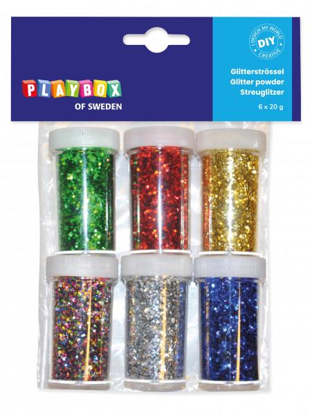 Glitter in 6 Farben