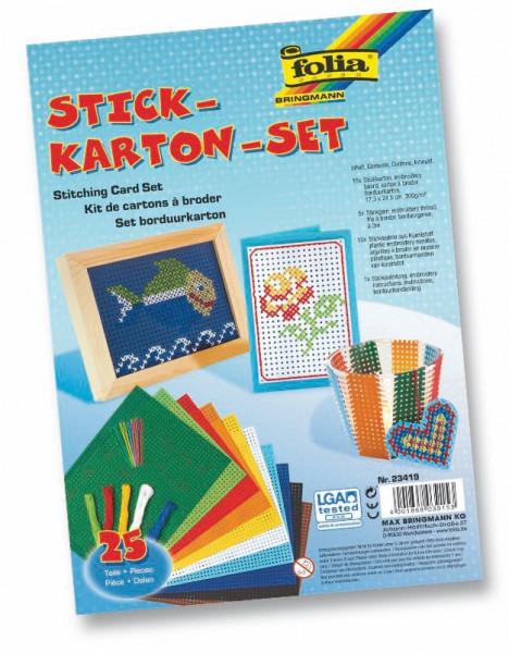 Stickkarton-Set, 25-teilig