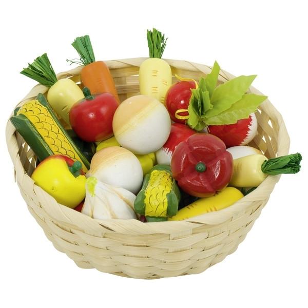 Gemüse im Korb, 17-teilig