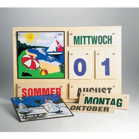 Jahreskalender aus Holz