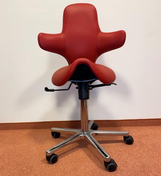 Sanus 2. Wahl Variowip Sattel rot Leder 40-57 cm