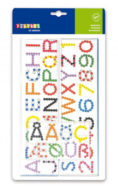 Steckplatten Buchstaben & Zahlen, 1 Stück
